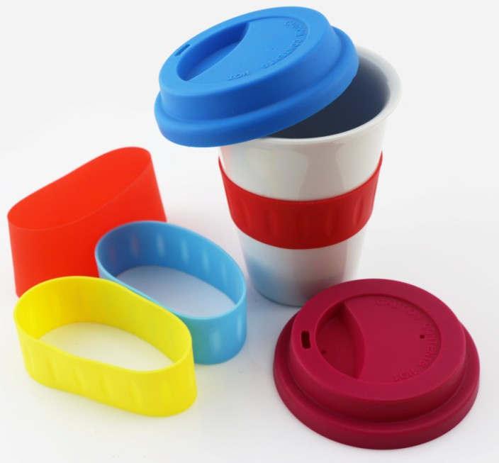 Ceramic Mug with Silicone Lid(HS-1019)